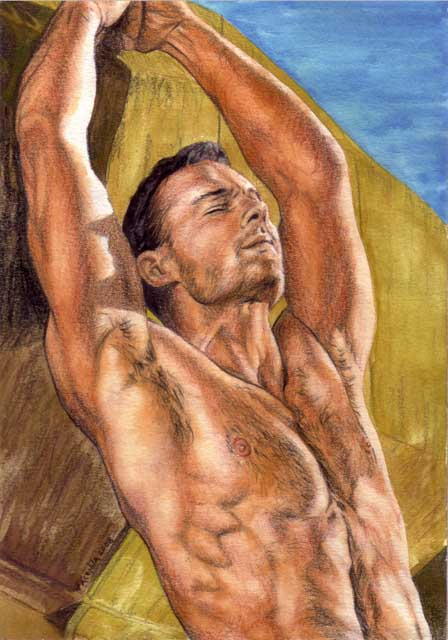 Filed under: Male Nudes ? Tags: art, drawing, gay, male nude, Male Nudes, ...